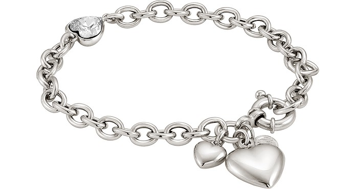 Rock in Love Heart Bracelet w/Cubic Zirconia - Nomination