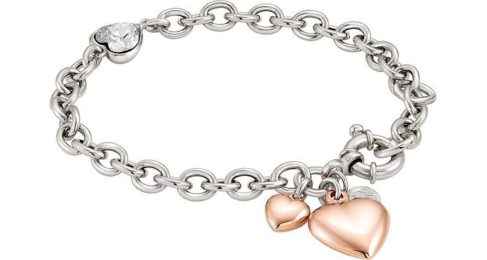Rock in Love Heart Bracelet w/Cubic Zirconia - Nomination