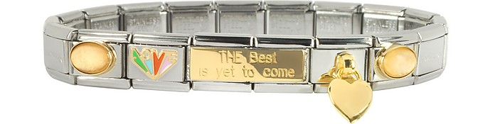 The Best is Yet to Come Sterling Silver & Stainless Steel Bracelet - Nomination
