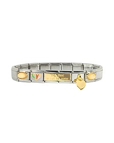 The Best is Yet to Come Sterling Silver & Stainless Steel Bracelet