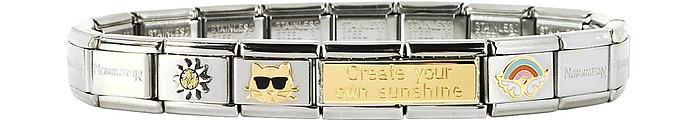 Create Your Sunshine Sterling Silver & Stainless Steel Bracelet - Nomination