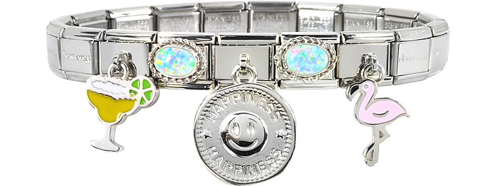 Happiness Sterling Silver & Stainless Steel Bracelet - Nomination