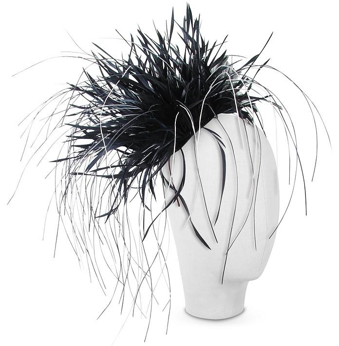 8c1caf1b533 Nana  Alicia - Black Feather Headdress at FORZIERI UK