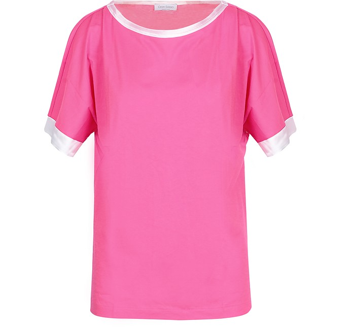 Pink Cotton Women's T-Shirt - Gran Sasso