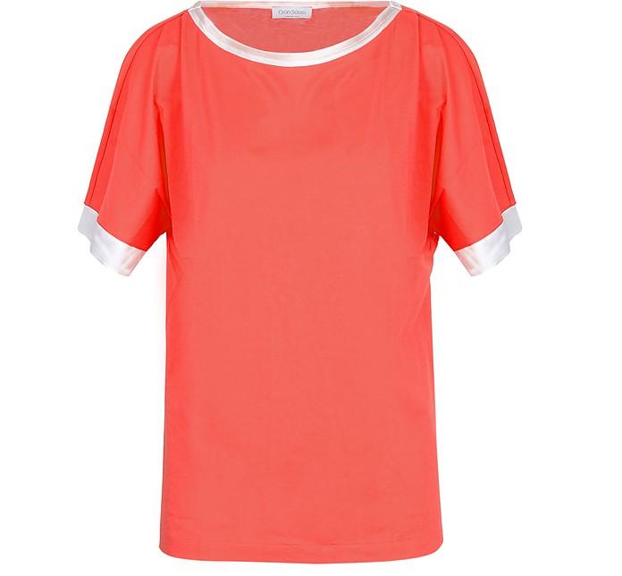 Red Cotton Women's T-Shirt - Gran Sasso