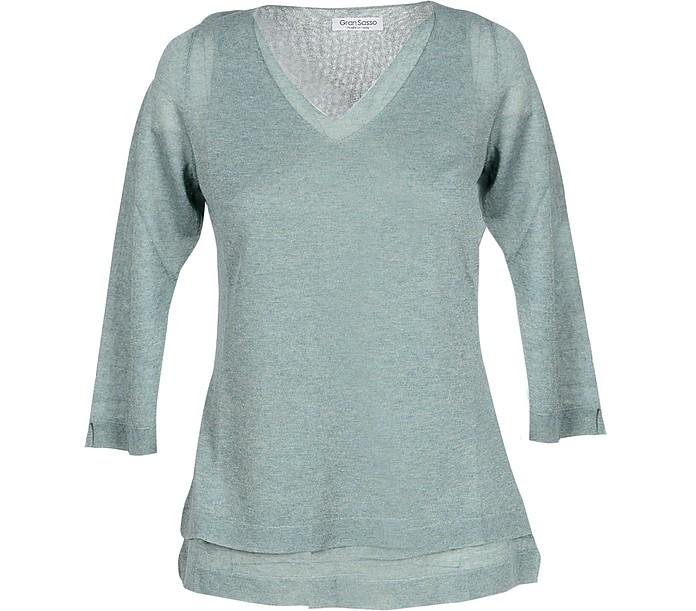 Green Viscose Blend Women's Sweater - Gran Sasso