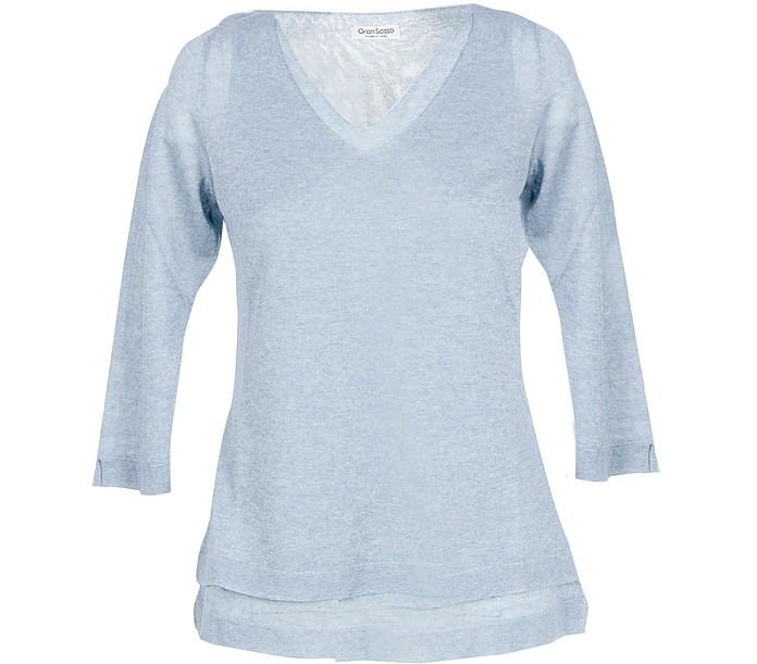 Ice Gray Viscose Blend Women's Sweater - Gran Sasso