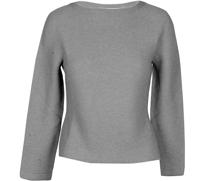 Gray Cotton Women's Sweater - Gran Sasso