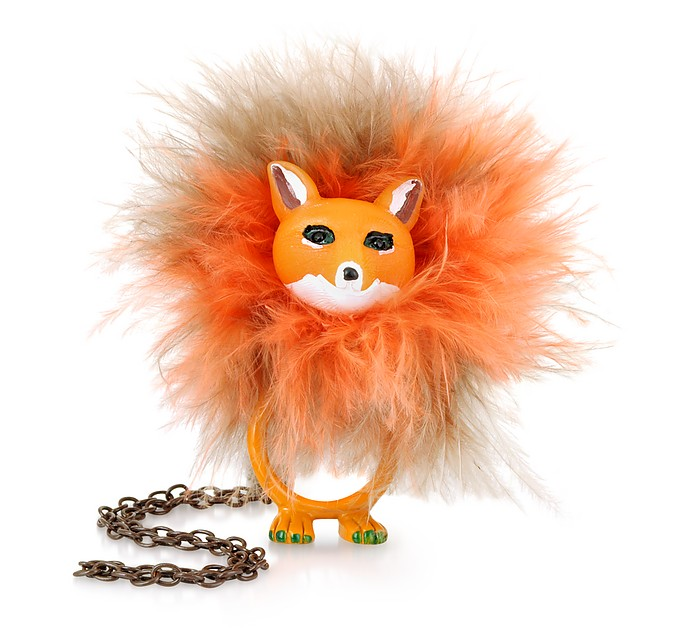 Le Pompon Convertible Fox Necklace/Ring - N2