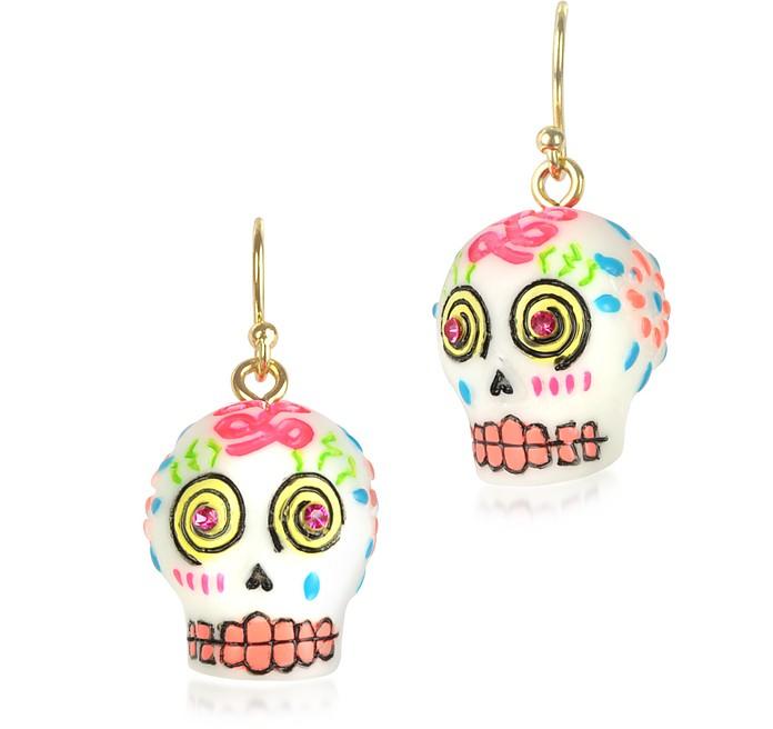 Sugar Skull Drop Earrings - N2