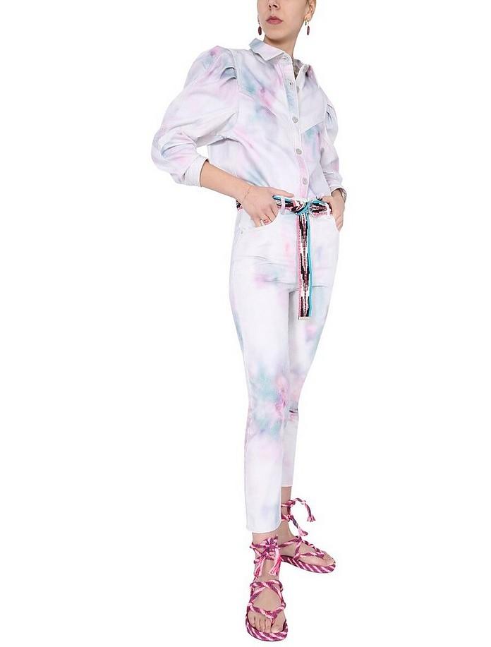 """Wool"" Printed Jeans - Isabel Marant"