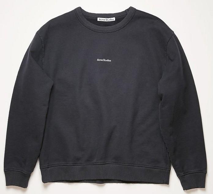 Black Cotton Oversized Women's Women's Sweatshirt - Acne Studios