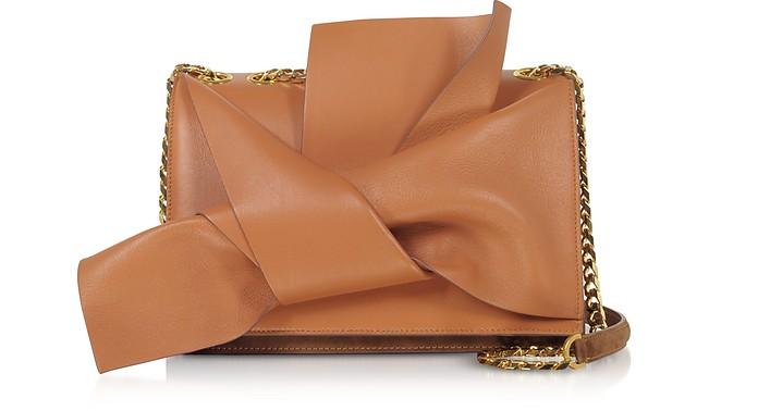 Leather Medium Bow Bag w/Shoulder Strap - N°21
