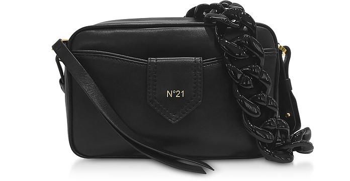 Black Leather Camera Bag - N°21