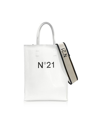 e338c804f3 White Patent Eco-Leather Small Tote Bag - N°21