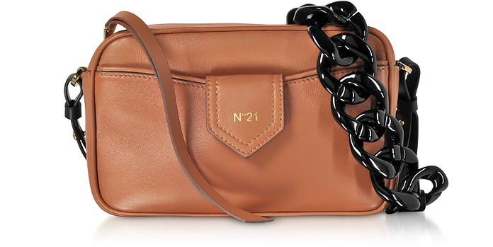 Caramel Nappa Leather Camera Bag - N°21