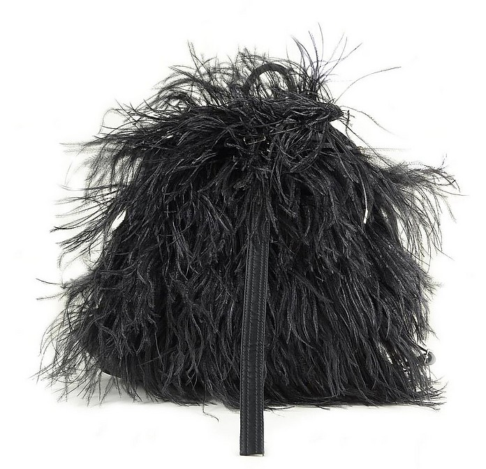 Black Synthetic Feathers Backpack - N°21
