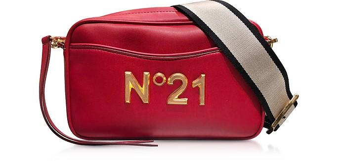 Camera Bag in Nappa con Tracolla e Logo - N°21