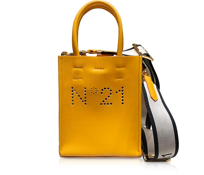 Mini Shopper in Pelle con Logo Traforato - N°21