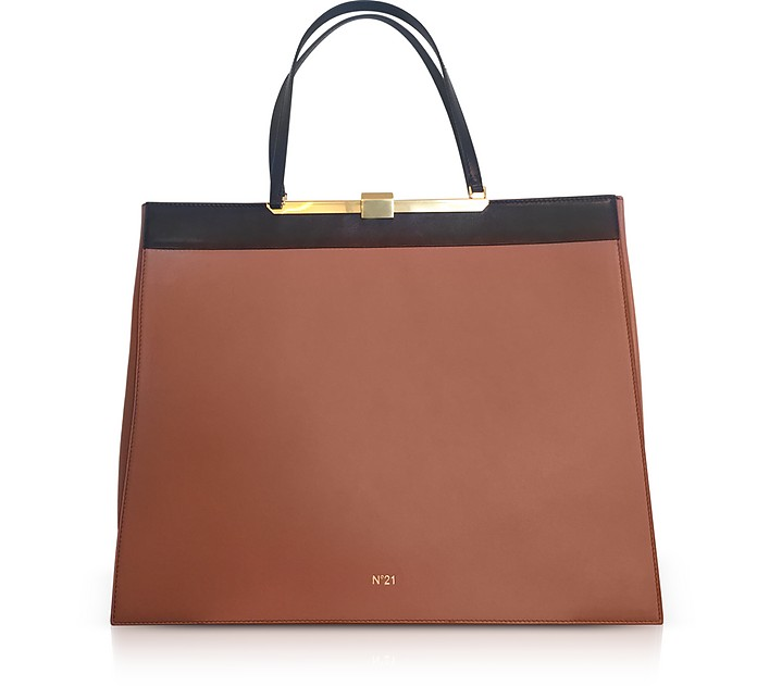 Two Tone Top-Handle Tote Bag - N°21