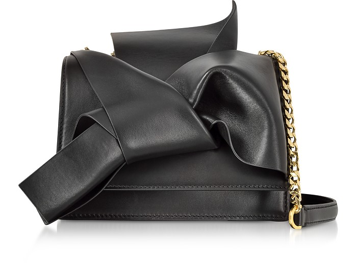 Leather Small Bow Bag w/Shoulder Strap - N°21