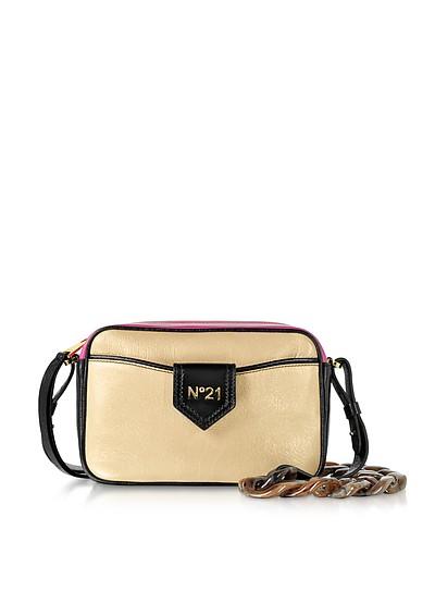 Phard, Black and Fuchsia Leather Camera Bag - N°21