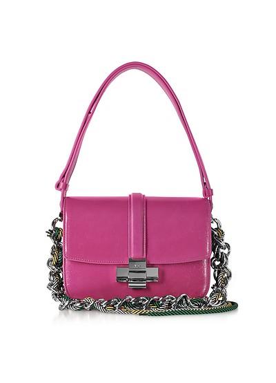 Fuchsia Leather Lolita Bag - N°21