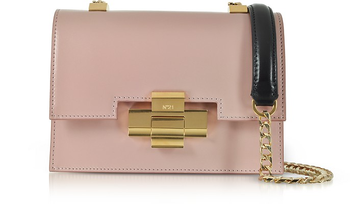 Mini Alice Nude& Black Nappa Leather Shoulder Bag - N°21