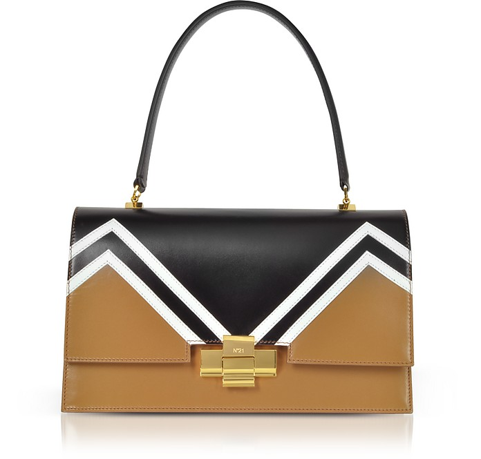 Color Block Leather Alice Satchel Bag - N°21