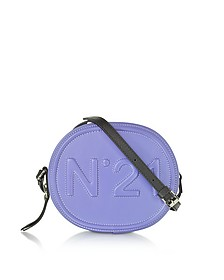 Liliac Leather Oval Crossbody Bag w/Embossed Logo - N°21