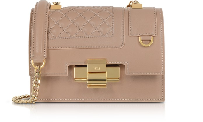 Powder Pink Quilted Leather Mini Alice Shoulder Bag - N°21