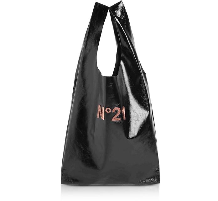 Black Signature Shopping Bag - N°21