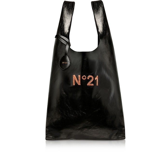 Black Logo Shopper Bag - N°21