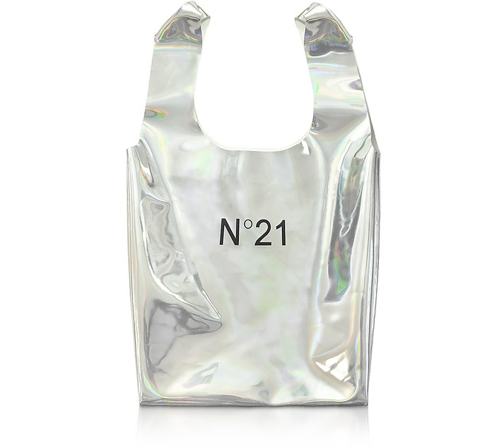 Holographic Silver Signature Shopping Bag - N°21