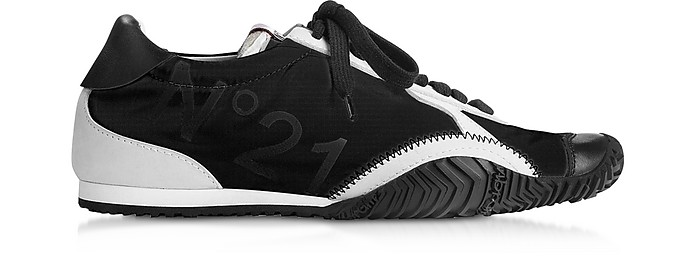 Strike Calf Leather & Synthetic Women's Sneakers - N°21