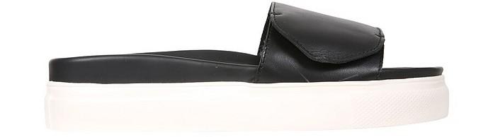 Black Slide Sandals With Logo - N°21