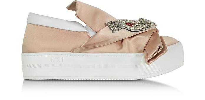 Powder Pink Satin Sneaker - N°21