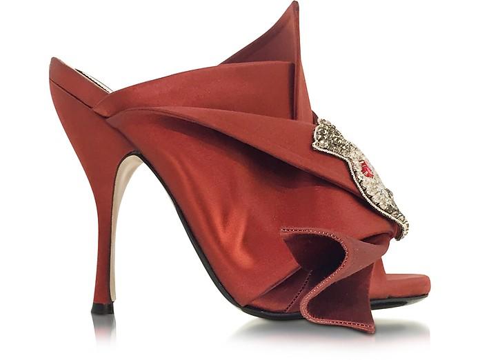 Satin Wrap High Heel Sandal - N°21