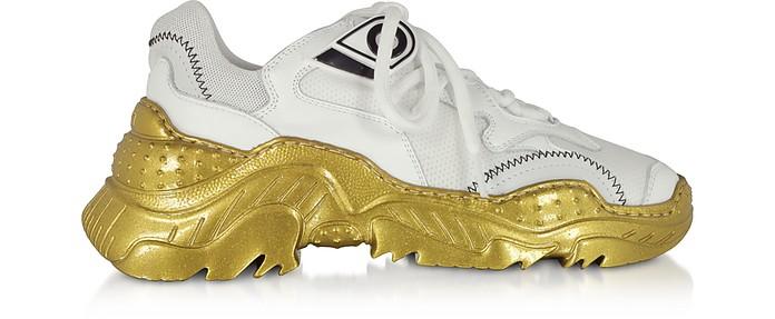White Nylon Women's Sneakers - N°21