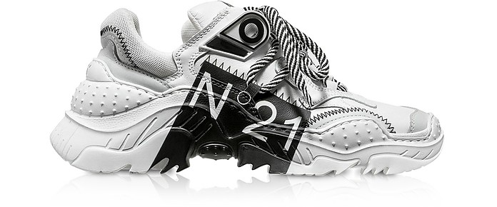Billy Limited Edition White/Black Women's Sneakers - N°21 / ヌメロヴェントゥーノ