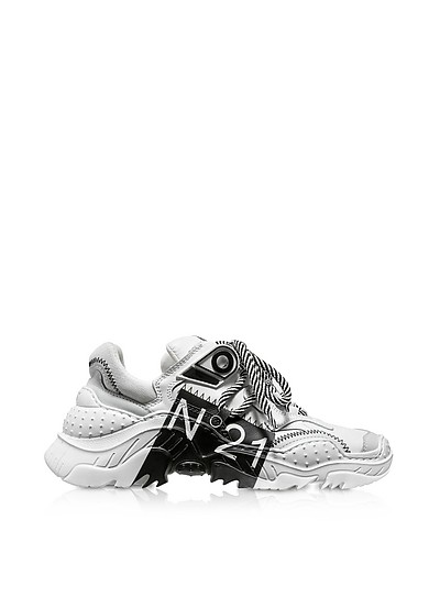 Billy Limited Edition White/Black Women's Sneakers - N°21