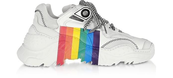 Sneakers Billy Rainbow in Pelle Multicolor - N°21