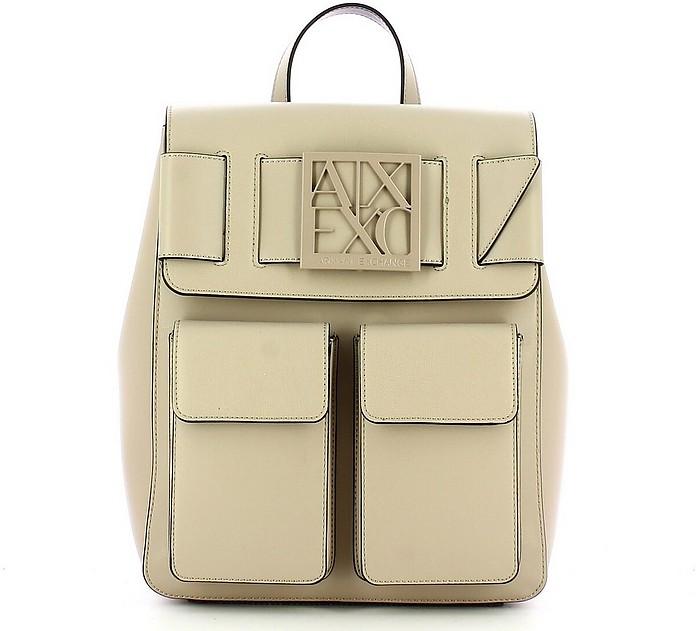 Women's Beige Backpack - Armani Exchange / アルマーニ エクスチェンジ