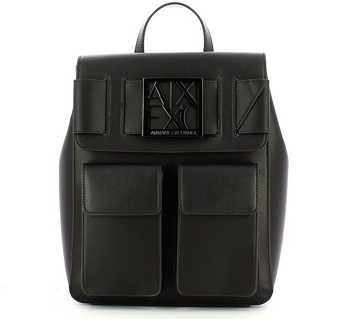 Women's Black Backpack - Armani Exchange / アルマーニ エクスチェンジ