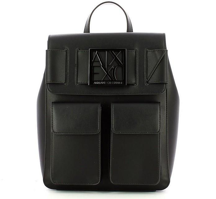 Women's Black Backpack - Armani Exchange