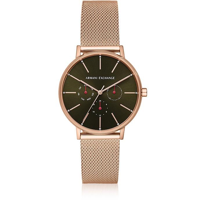 Lola Rose Gold Tone Chronograph Mesh Watch - Armani Exchange