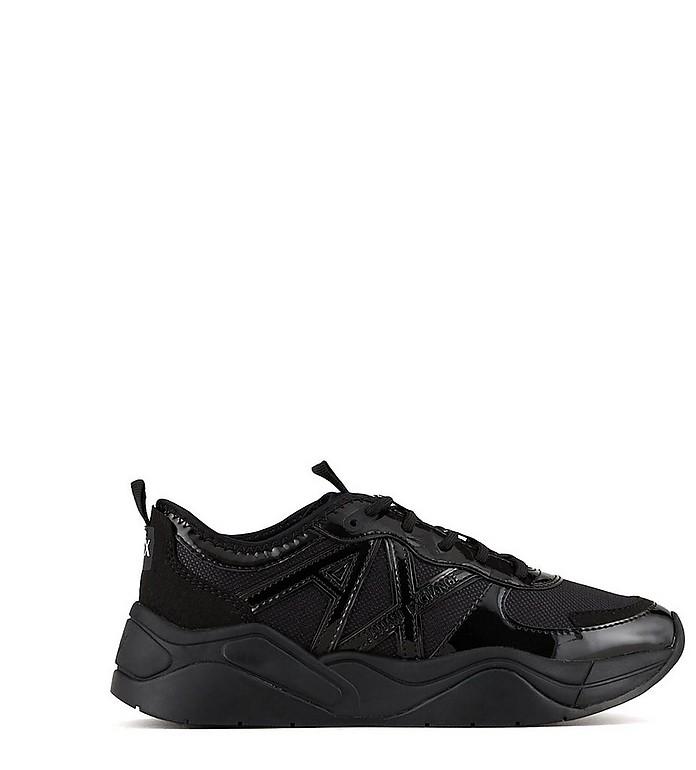 Black Mesh Women's Sneakers - Armani Exchange / アルマーニ エクスチェンジ