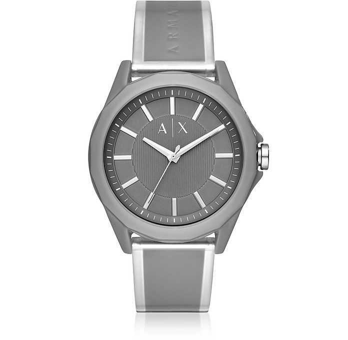 Drexler Dark Gray Three Hand Polyurethane Watch - Armani Exchange