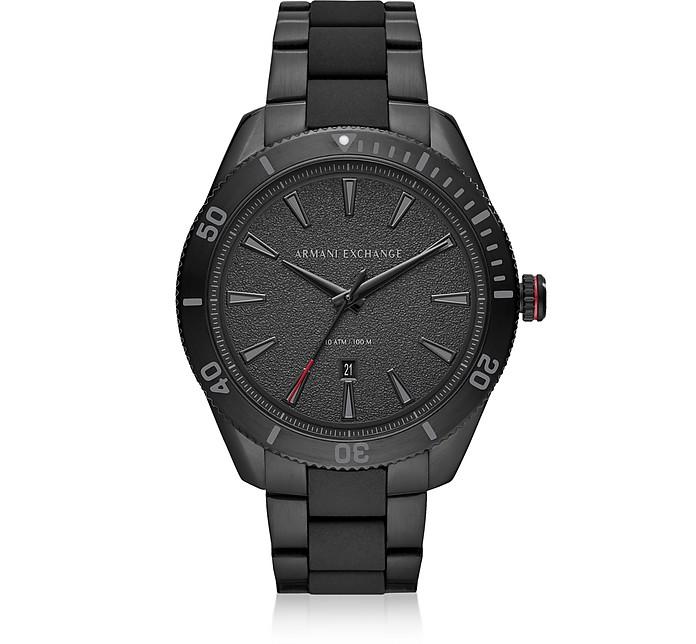 Enzo Black Men's Three Hand Watch - Armani Exchange