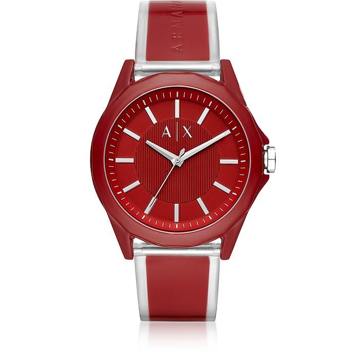 Drexler Red Three Hand Polyurethane Watch - Armani Exchange